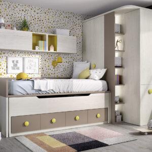 Compacto de dormitorio juvenil