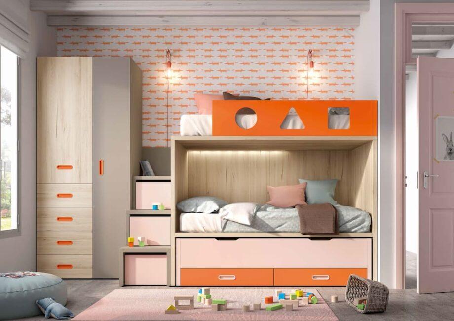 Comprar litera en valencia. Dormitorio con litera. Literas para niños. Comprar dormitorios juveniles para niños.