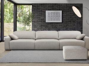 Comprar sofá melani de Pedro Ortiz. Disponible en 2,3 plazas, con chaiselongue, con terminal, con rinconera.